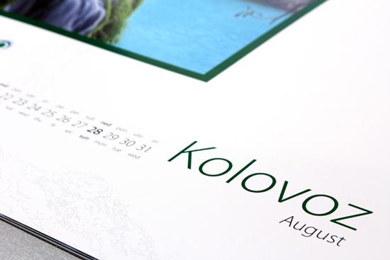 NP Plitvička jezera – kalendar 2011